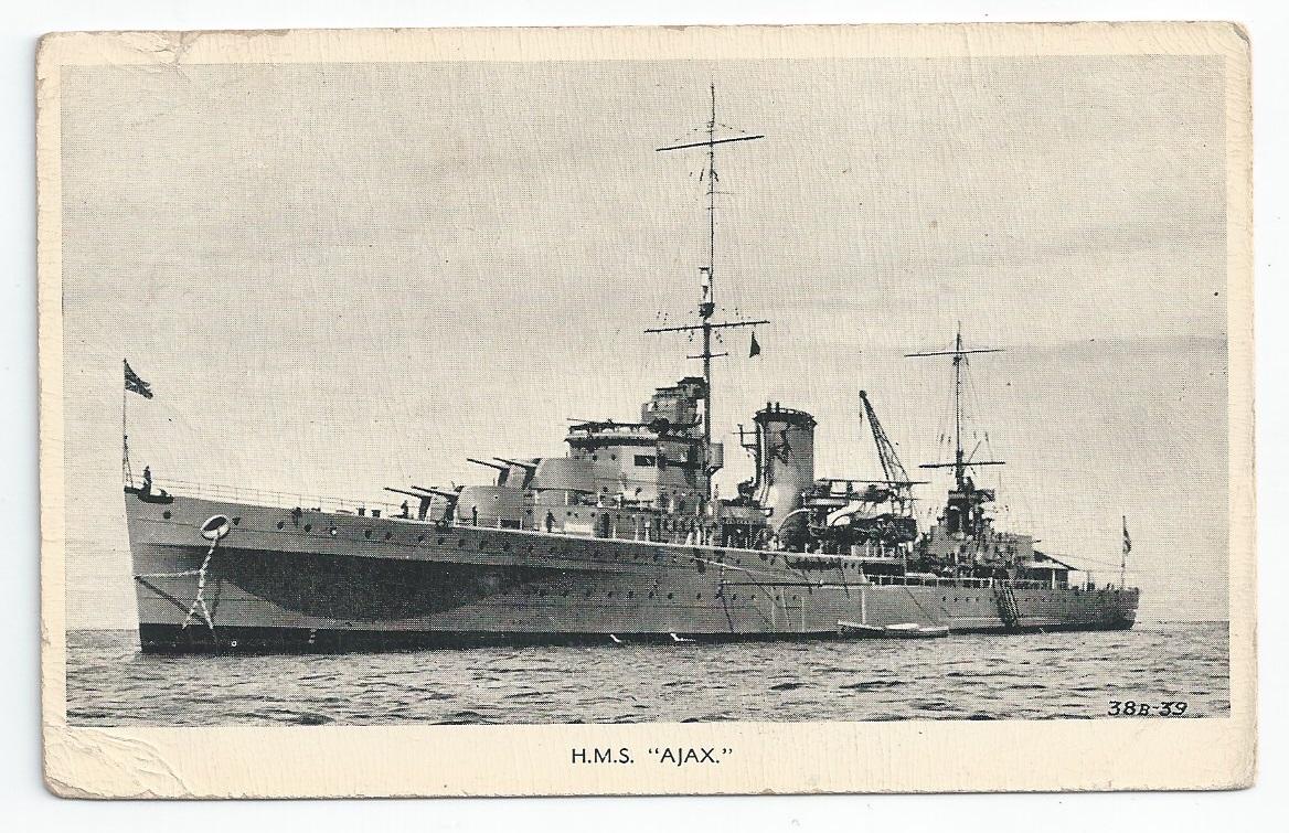 Royal Navy  Leander Class Light Cruiser Postcards